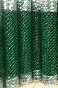 Сетка рабица ПВХ 50х50 1,0м х 10м зеленая