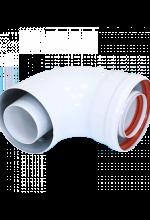 Отвод коаксиальный 60/100 90гр